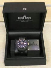 Edox 80078 Carbon Black Class 1 Self Winding Men's Wristwatch *Pre-owned*