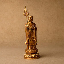 Chinese Tangseng Jizo Ksitigarbha Bodhisattva Monk Buddha Resin Statue