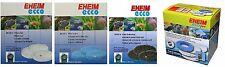 Eheim Ecco External Filter Replacement Sponges Blue White Filter Wool Carbon
