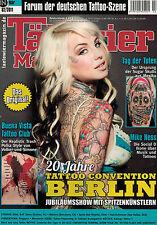 Tätowier Magazin 2,02/2011 Februar,Tiger Motive,Edek,Máximo,Berlin,Aaron Bell