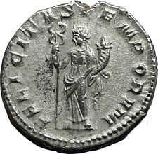 GORDIAN III 238AD Authentic Genuine Ancient Silver Roman Coin Felicitas  i59074
