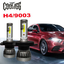 2pcs Cooligg H4 HB2 9003 LED Headlight Conversion Kit Bulbs 6000K High Low Beam