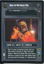 Star Wars CCG Enhanced Premiere Boba Fett With Blaster Rifle