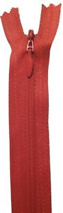 """ZIPS INVISIBLE/CONCEALED 16""""/41CM NYLON, X2 ,ASSORTED COLOURS, NO3"""