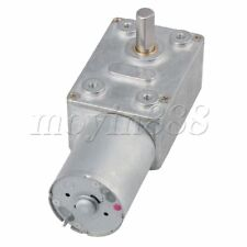 12V 2rpm Worm Turbo Gear Motor Right Angle Gear DC Motor Metal