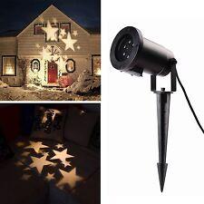 LED Effektlicht mit warmweißen Sternen Gartenleuchte Projektor Mauer Dekoration