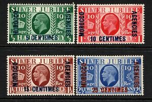 Morocco Agencies KGV 1935 Silver Jubilee Set (French Currency) SG212-15 M/Mint