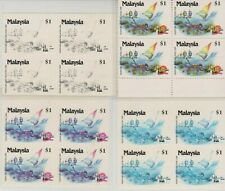 Mazuma *S41 Malaysia 1990 Melawat Malaysia $1 Progressive Proof Block Of 4 Set