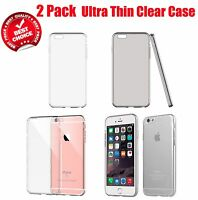 2 Pack TopRated Clear Rubber TPU Soft Case Cover For 4.7 iPhone 6/s/Plus 5.5""