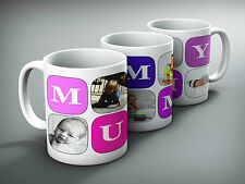 Mothers gift mug cup MUMMY cute gift with 5 of your pictures
