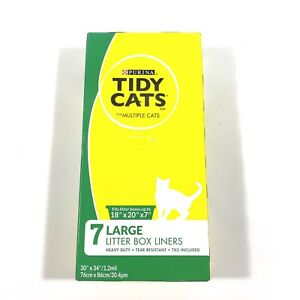 """Tidy Cats Large Litter Box Liners - Box of 7 - Fits 18"""" x 20"""" x 7"""" FACTORY SEAL"""
