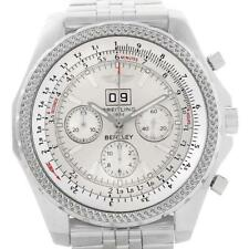 Breitling Bentley Motors Silver Dial Chronograph Mens Watch A44362