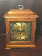 Franz Hermle Mantel Clock 340-020 Oak Stand Made In West Germany