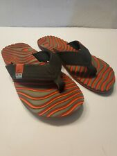 Reef Flip Flops Sandals Mens Sz 8 Red Black Grey Summer Beach