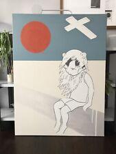 Hand painted canvas art - brave boy illustration