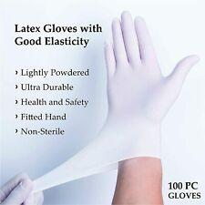 LATEX GLOVES (Powder-Free) Size SMALL 50 / 100 PCS