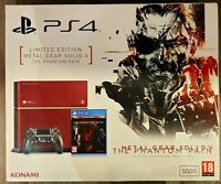 PS4 500 GB LMTD EDITION METAL GEAR SOLID 5 THE PHANTOM PAIN NUOVA SIGILLATA!