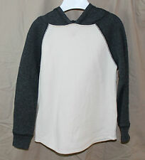 Jumping Beans, 3T, Charcoal/ Ivory Hooded Thermal Shirt, New without Tags