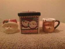 3 Handmade Winter Wonderland & Ginger Candles in Mini Holiday Mugs & Container.