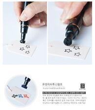 Waterproof Temporary Tatoo Stamp Kids Party Child Toy Safe Ink Korea Black Star