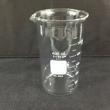 PYREX Beakers Berzelius Tall Form 600mL #1060 Beaker Graduated Ea