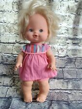 Vintage 1975 Mattel 13 Inch Squeeze Breathe Baby Girl Doll