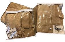 NIP Vintage Bella Notte Arista Standard/Queen Pillow Shams Bedskirt Gold Damask