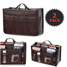 2 X Purse Organizer Insert Pack Women Travel Set Handbag Liner Tidy Dual GIFT