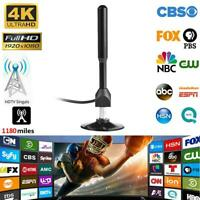 4K HD 1080P Indoor Digital TV Antenna Amplifier 1180 Miles Range DVB-T2 Freeview