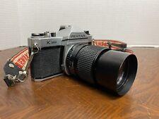 VINTAGE ASAHI PENTAX K1000 SLR FILM CAMERA w/ JCPenney 2.8f 135mm Lens