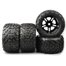 4X RC Rubber 1:8 Bigfoot Monster Truck Tires&Wheel 155mm 17mm Hex For HSP HPI