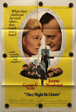 THEY MIGHT BE GIANTS Original One Sheet Movie Poster - 1971