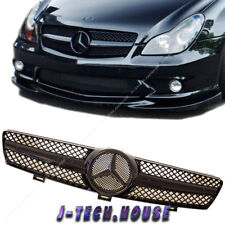 Fit W219 04-08 BENZ CLS ALL Glossy Black Type Front Vent Grille CLS350 CLS500
