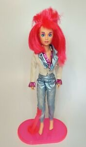 Jem And The Holograms Kimber Doll 1985 Hasbro and stand