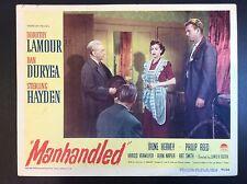"DOROTHY LAMOUR 11 x 14 ""MANHANDLED"" 1949 MOVIE LOBBY CARD THEATER PROMO"