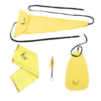 Saxophone Sax Cleaning Care Kit 3pcs Cleaning Cloth + Mouthpiece Brush H5U1