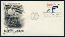 #U605 20c Remember Paralyzed Vets, Art Craft FDC **ANY 4=FREE SHIPPING**