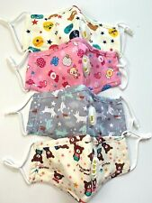 3, 4, 5 pack Cotton Child size Multi Color Face Cover with Valve + filter