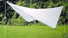 Wehncke Sonnensegel Tarp Sonnenschutz Beschattung Sonnendach weiß o. grau 15804