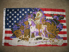3x5 USA United States Indian Horse Snow Flag 3'x5' Banner Brass Grommets