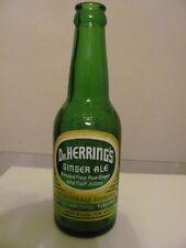 Dr Herring's Ginger Ale Empty 8 oz Green Glass Bottle