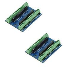 2 X Nano Expansion Terminal Adapter for Arduino ATMEGA328P-AU V3.0 AVR Board