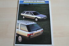 86077) Renault R 21 Nevada Prospekt 07/1987