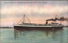 Steamship Hamonic Canada Lines Windsor ON c1920s-30s Postcard