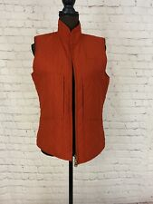 New listing Womens LRL Lauren Ralph Lauren Quilted Full Zip Vest Equestrian Orange Sz M