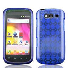 For Samsung Galaxy S Blaze 4G TPU CANDY Flexi Gel Skin Case Cover Blue Plaid