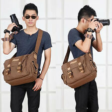 Canvas Professional Camera Messenger Shoulder Bag for Canon Nikon Sony DSLR
