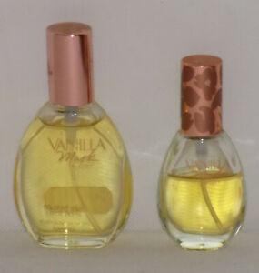 2 Bottles Vanilla Musk Cologne Spray by Coty - 1 fl oz. & .3 fl oz.