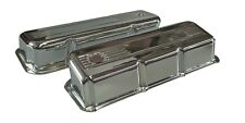 Valve Covers Ford Cleveland V8 302-351-400 Tall Chrome Steel Suit Roller Rockers