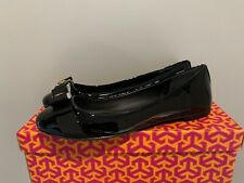 Tory Burch Women's Black Trudy Patent Leather Size 7 Ballet Flats Shoes $225